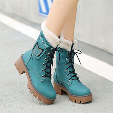 Womens Flurry Spike Studded Lace Up Ankle Boots Platform Creepers Oxfords Shoes