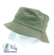 Mens Hat Bucket Style Crushable Waterproof Waxed Country in Green Size 57 - 60cm
