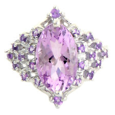 Amethyst 4.60 Carat Genuine Gemstone Ring In 10 Kt White Gold Jewelry