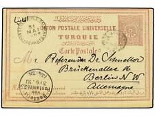 TURKEY. 1893. Postal stationery card sent to BERLIN sh