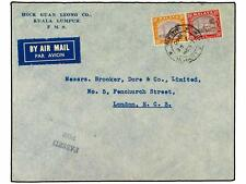 MALAYA (FEDERATION). 1940. Air mail cover to