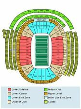 Green Bay Packers vs New York Giants Tickets 10/09/16  ROW 1 .. AISLE SEATS