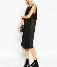 NWT $150 ASOS WHITE Label Layered Midi Dress with Laser Cut Detail
