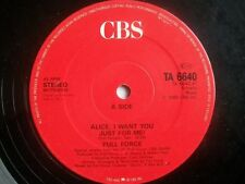 """FULL FORCE Alice I Just Want You For Me 12"""" Sound Clip in Listing"""