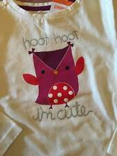 "NWT Gymboree ""Hoot Hoot I'm Cute"" Toddler Girls Long Sleeved Top 3T or 4T"