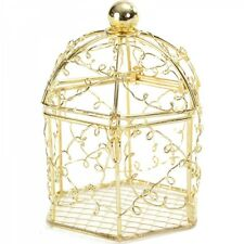 10 x Gold Bird Cage Wedding Favours Table Decor Fairytale Wedding EF