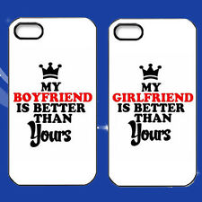 2016 My BF & GF Is Better Hard Cover ,CUTE Couple Phone Case For Smart Phone