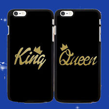 2016 King & Queen BLACK Hard Cover , CUTE Couple Phone Case For Smart Phone