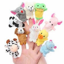 2/10Pcs Baby Toy Finger Puppet Cloth Plush Doll Educational Hand Cartoon Animal