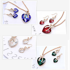 Heart Romantic Necklace And Earring Sets Fashion Jewelry Sets Girls.Gift