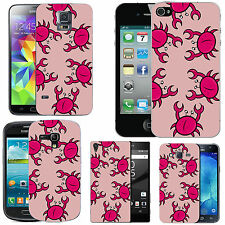 gel case cover for many mobiles - blush multi crab silicone