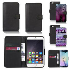 black pu leather wallet case cover for many mobiles design ref q431