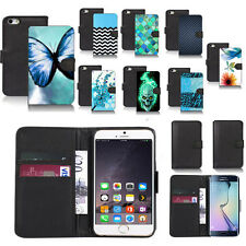 black pu leather wallet case cover for popular mobiles design ref a07