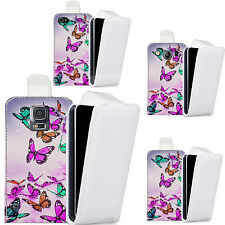 pu leather flip case cover for majority Mobile phones - mass butterflies flip.