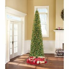 Pre-Lit Christmas Tree & Stand 9 Ft Tall Holiday Decor Clear or Color Lights NEW