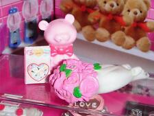 Rement Valentines Day Flowers and bear fits Fisher Price Loving Family Dollhouse