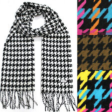 Men Long shepherd check Plaids scarf Wrap Shawl Gift Scarves Cashimere Feel