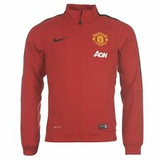NEW Men NIKE Manchester United Soccer Football Woven Track Jacket Red MSRP $90