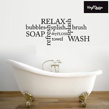 Bathroom wall art quote- Relax, splish, splash, refresh wall art sticker