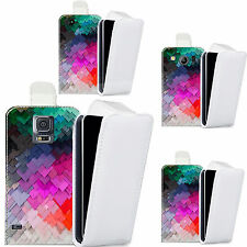 pu leather  case cover for majority Mobile phones - colourful slate pattern flip