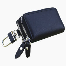 Double Zipper Car key bag Leather Key Case Key Bag with Holder Keychain Wallets