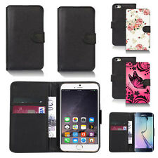 black pu leather wallet case cover for many mobiles design ref q515