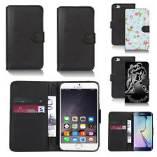 pu leather wallet case cover for many mobiles design ref q87