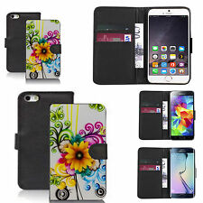 pu leather wallet case for many Mobile phones - sunflower