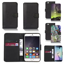 black pu leather wallet case cover for apple iphone models design ref q569
