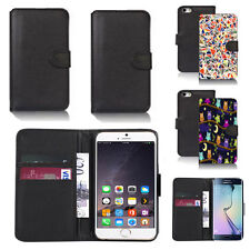 black pu leather wallet case cover for apple iphone models design ref q331