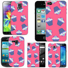gel case cover for many mobiles - blush multi cupcakes silicone