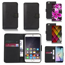 pu leather wallet case cover for many mobiles design ref q266