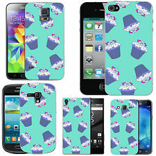 motif case cover for many Mobile phones - azure multi cupcakes
