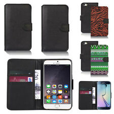 pu leather wallet case cover for many mobiles design ref q216