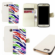 pu leather wallet case for majority Mobile phones - synopsize white