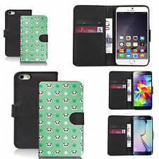 pu leather wallet case for many Mobile phones - green multi panda
