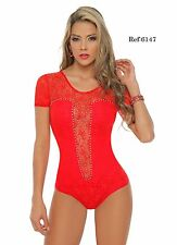 `New Women Sexy Colombian Slimmer Tummy Control Dressy Bodysuit Thong Top Blouse