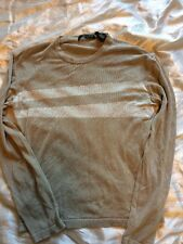 Ladies Donna Karen New York Jumper Sweater Top Size Small S Soft Beige