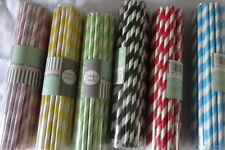 striped straws wedding party birthday lolly buffet black red blue green yellow