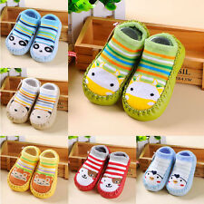 Cartoon Newborn Baby Kid Girl Boy Anti-slip Socks Slipper Shoes Boots 6-24 Month