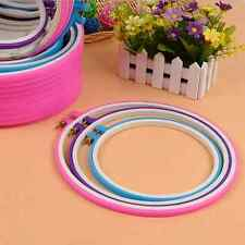 Embroidery Hoop Circle Round Frame Art Craft DIY Cross Stitch  LD
