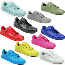 NEW WOMENS LADIES GIRLS SPORTS FLAT LACE UP TRAINERS PUMPS SHOES SIZE 3-8