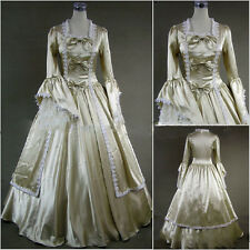Long Thick Satin Gothic Victorian Cosplay Lolita Dress Palace Ball Gown Costume