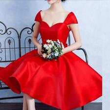 Red Bride Toast Cocktail Evening Dress Homecoming Formal Bridesmaid Party Gown