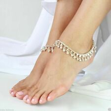 Silver Gold Gypsy Indian Bell Charm Ankle Bracelet Anklet foot Chain Belly Dance