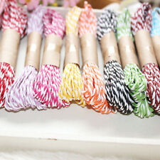 2x 10M 2mm Cotton Twine Wedding Party DIY Crafts String Ribbon 11 Divine Colors&