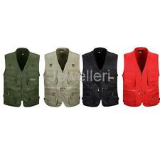 Men's Multi-pocket Photography Fishing Vest Outdoor Waistcoat Hunting Zip Jacket