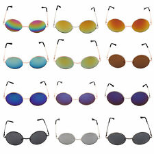 New Eyewear Retro Round Sunglasses Reflective Small Round Frame glasses HR
