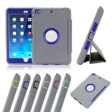 Gray Shockproof Heavy Duty Hard Case & Smart Cover for iPad 2 3 4 mini Air 2 Pro