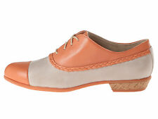 Wolverine 1883 Maise Women Suede Leather Oxford Shoe Lace-Up Peach Stone 8.5 New